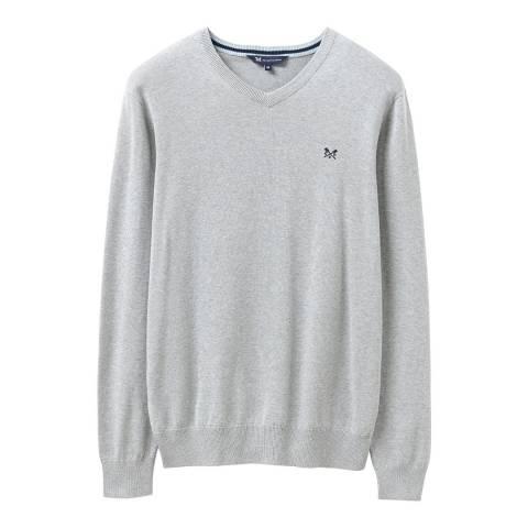 Crew Clothing Grey V-Neck Cotton