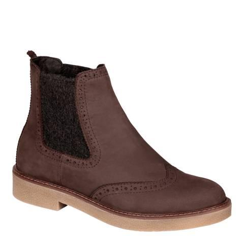Scholl Dark Brown Rudy Chelsea Boots