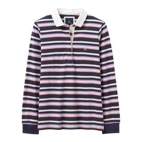 Crew Clothing Multicoloured Striped Cotton Rugby Shirt