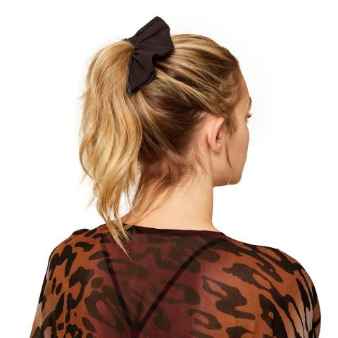 N°· Eleven Black Scarf Detail Scrunchie