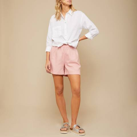 N°· Eleven Pink Linen Paperbag Short