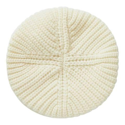 United Colors of Benetton Cream Knit Beret Cap