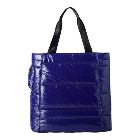 United Colors of Benetton Blue Shiny Shopper