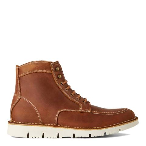 United Colors of Benetton Brown Leather Ankle Boots