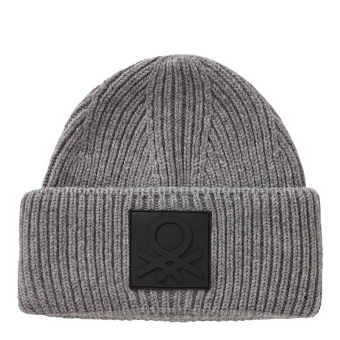 United Colors of Benetton Grey Turn Up Beanie