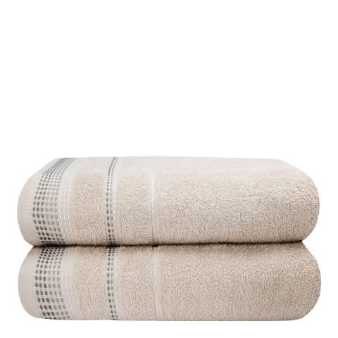 Rapport Berkley Set of 2 Towels, Natural