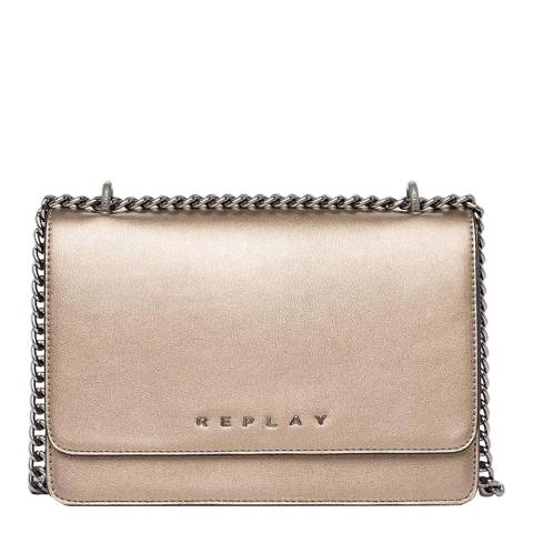Replay Bronze Chain Crossbody Bag