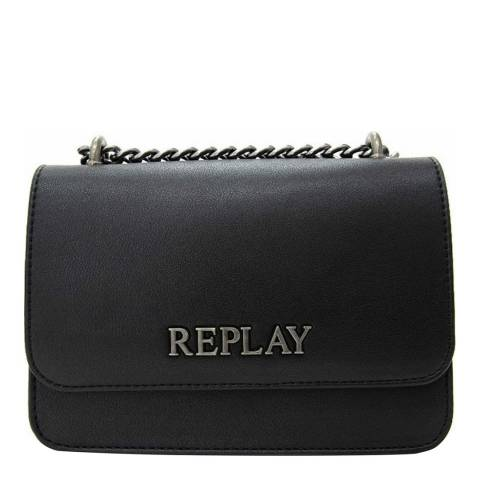 Replay Black Chain Crossbody Bag