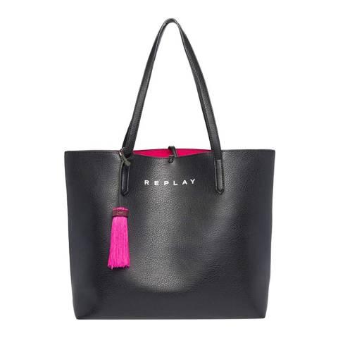 Replay Black/Pink Reversible Bag