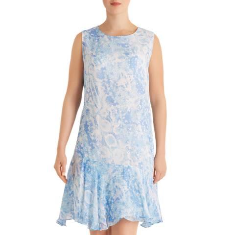 Fenn Wright Manson Blue Snake Print Dress
