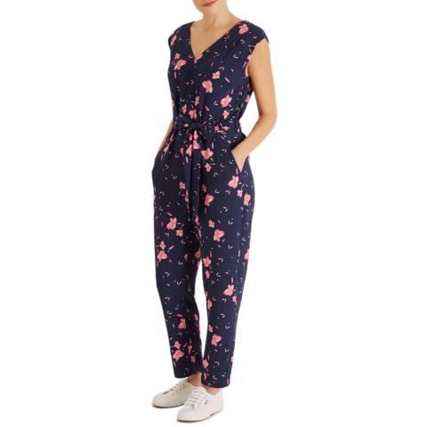 Fenn Wright Manson Navy Floral Ponderosa Jumpsuit