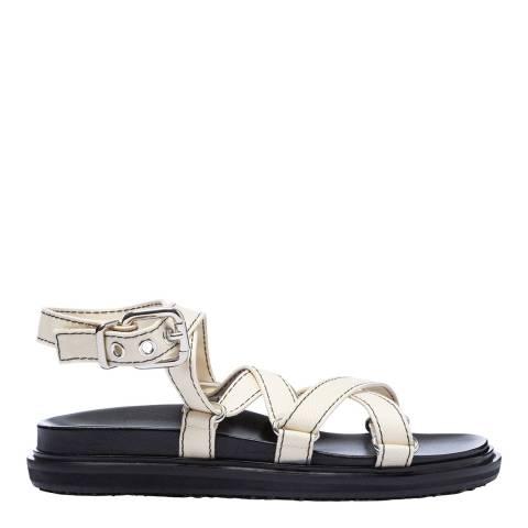 Marni Natural Strappy Fussbett Sandal