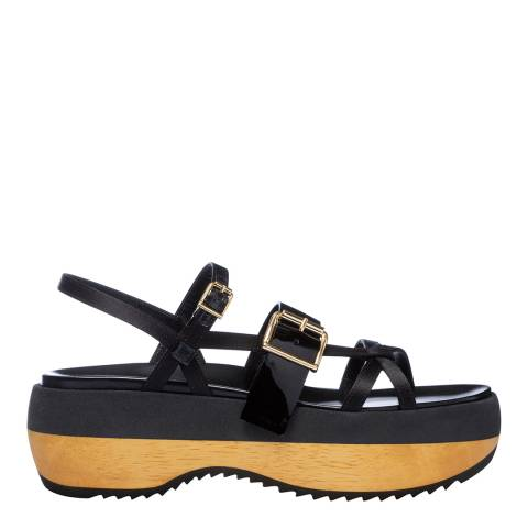 Marni Black Strappy Flatform Sandal