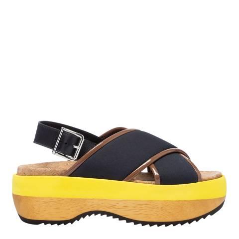 Marni Multi Colour Block Platform Sandal