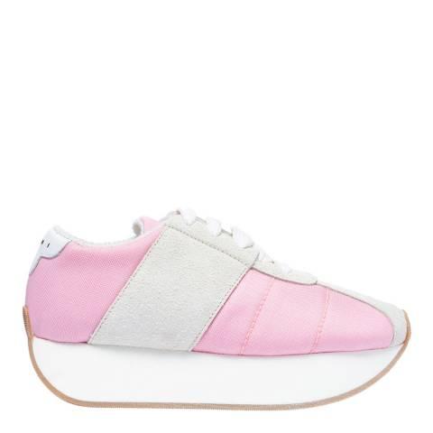 Marni Pink & Quartz Big Foot Low Top Sneaker