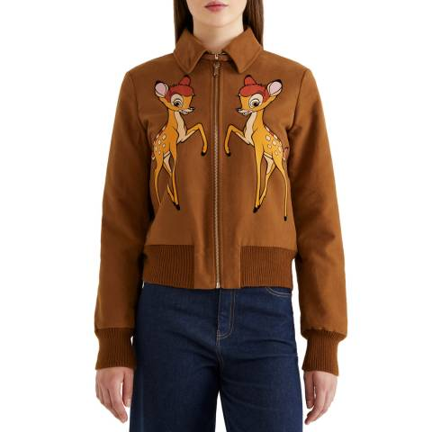 United Colors of Benetton Padded Moleskin Jacket