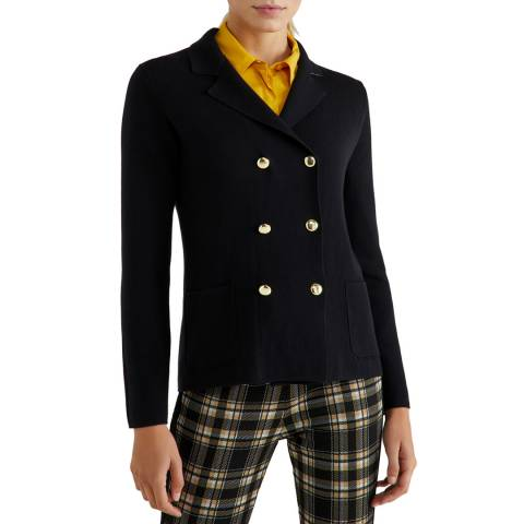 United Colors of Benetton Black Military Jacket