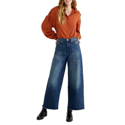 United Colors of Benetton Blue Mom Fit Denim Jeans