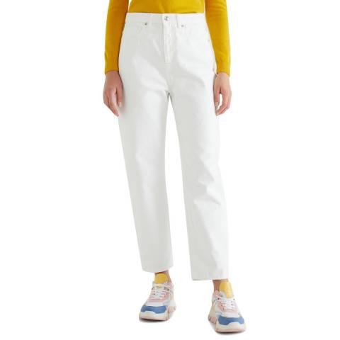 United Colors of Benetton White Five Pocket Trouser