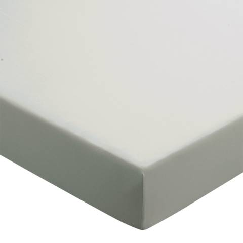 Sanderson Options 220TC Single Fitted Sheet, Silver
