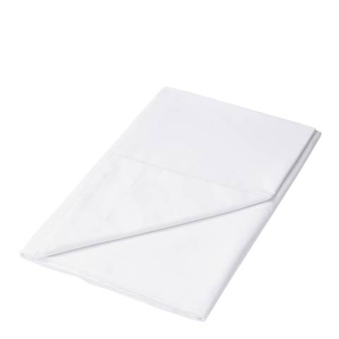 Sanderson Options 220TC King Flat Sheet, White