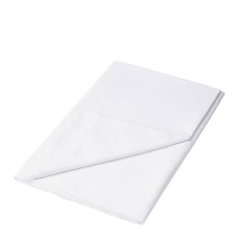 Sanderson Options 220TC Super King Flat Sheet, White