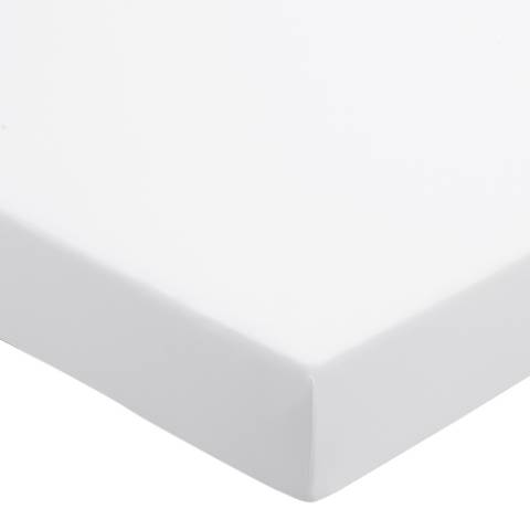Sanderson Options 220TC Single Fitted Sheet, White