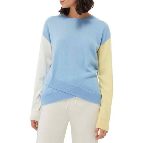 Chinti and Parker Multi Wool/Cashmere Cross Hem Jumper