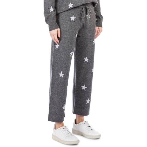 Chinti and Parker Grey Lounge Star Wool/Cashmere Joggers