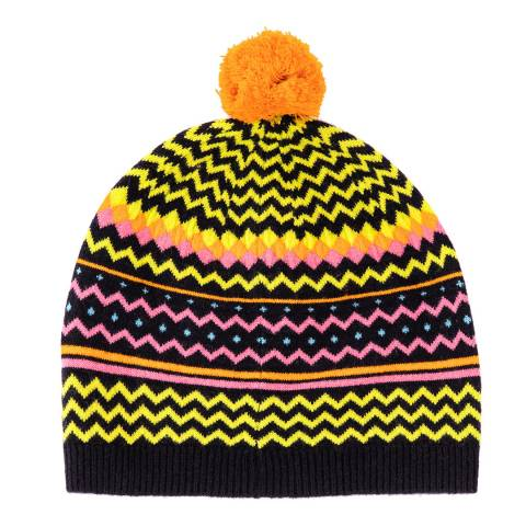 Chinti and Parker Navy Pop Fair Isle Hat