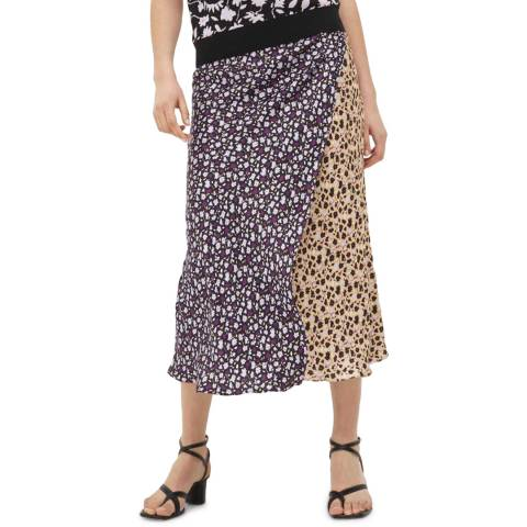 Chinti and Parker Multi Gabriel Floral Wrap Skirt