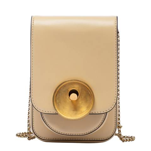Marni Vanilla Leather Shoulder Bag