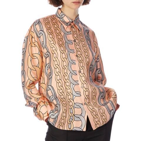 Marni Pink Multi Chain Print Shirt