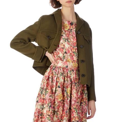 Marni Khaki Crop Cashmere Jacket