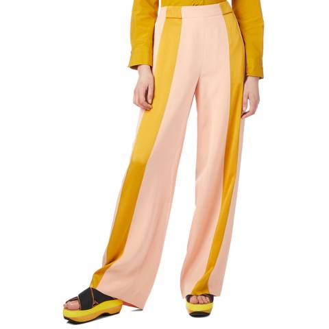 Marni Pink/Yellow Stripe Contrast Pants