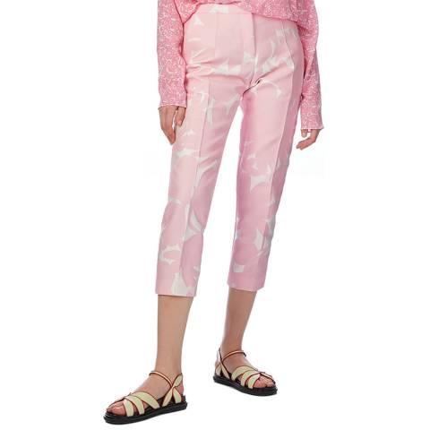 Marni Light Pink Print Tailored Pants