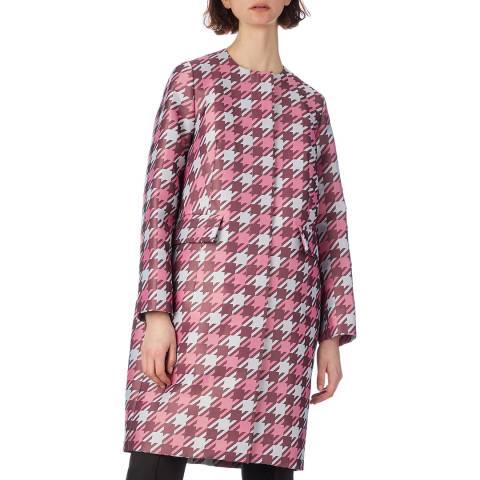 Marni Pink Houndtooth Coat