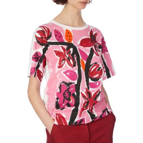 Marni Pink Flower Print T-Shirt