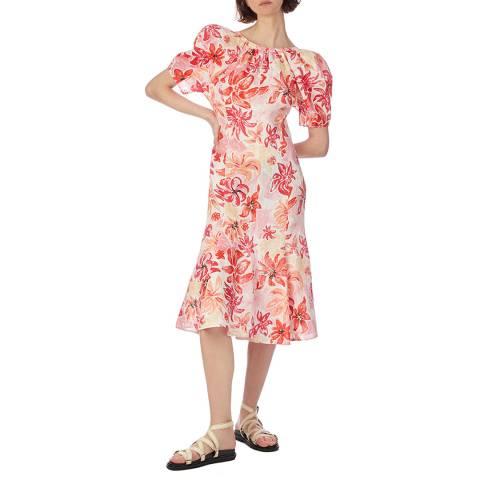 Marni Pink Floral Print Dress