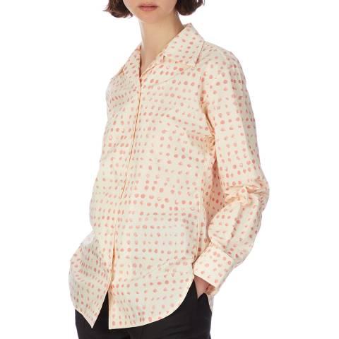 Marni Off White Printed Spot Cotton Blouse