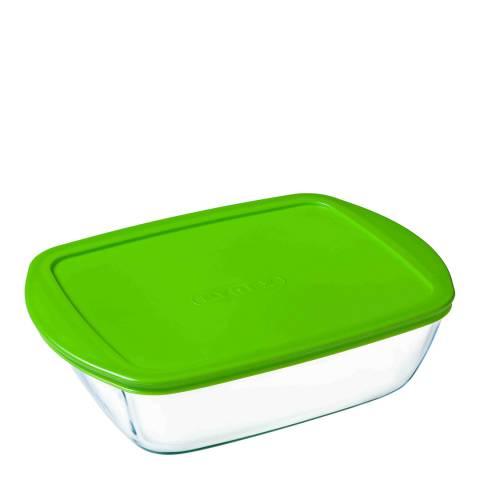 Pyrex Set of 6 Rectangular Dish with Lid, 400ml