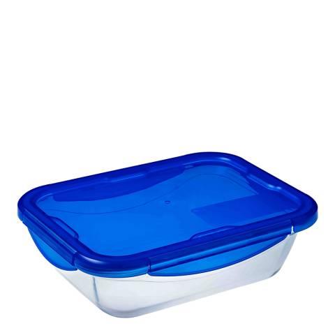 Pyrex Large Rectangular Dish with Lid, 3.4L
