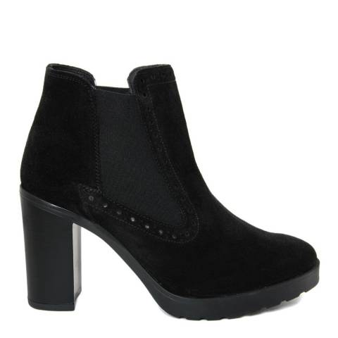 Eye Black Suede Chelsea Ankle Boots