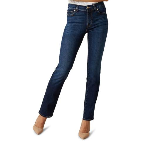 7 For All Mankind Indigo The Straight Stretch Jeans