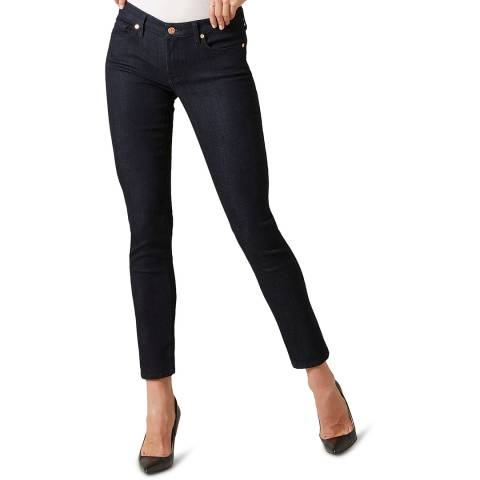 7 For All Mankind Dark Denim Pyper Slim Illusion Stretch Jeans
