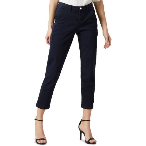 7 For All Mankind Navy Brushed Twill Stretch Chinos