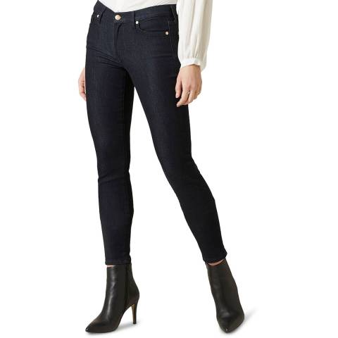 7 For All Mankind Dark Denim Skinny Slim Illusion Stretch Jeans
