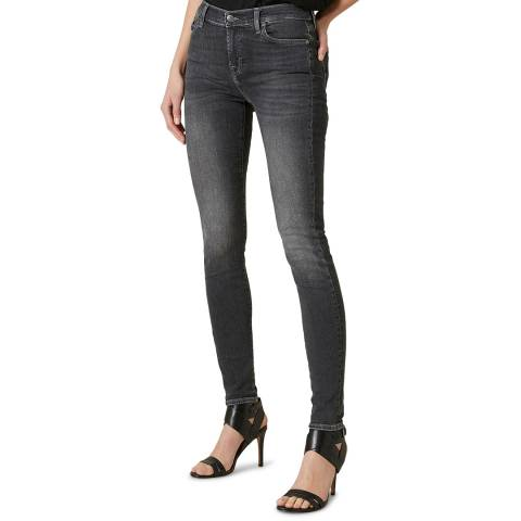 7 For All Mankind Black The Skinny Slim Evoloution Stretch Jeans