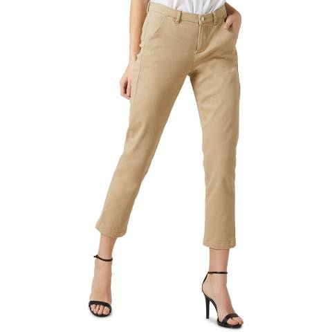 7 For All Mankind Beige Brushed Twill Stretch Chinos