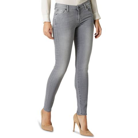 7 For All Mankind Grey Skinny Slim Illusion Stretch Jeans